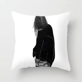 Slouch- Finelineslk Throw Pillow