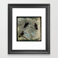 Crow Pop Framed Art Print