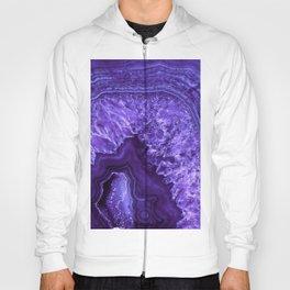 Ultra Violet Agate Mineral Gemstone Hoody