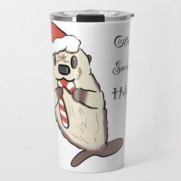 Otterly Sweet Holidays Travel Mug