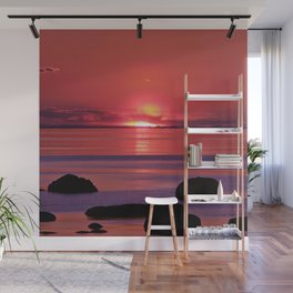 Sunset Ripples Wall Mural