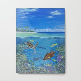 Mission Blue Metal Print