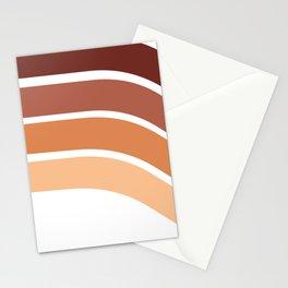 Rose Gold Retro 70's Rainbow Stationery Cards