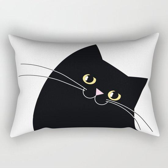 Black Cat of Lara Rectangular Pillow