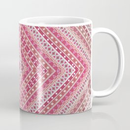 Ethnic ornament, tribal, square meters, geometric pattern Coffee Mug