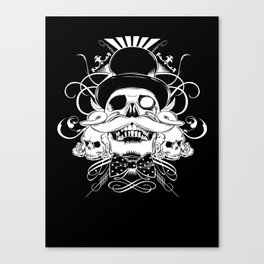 and my moustache shall be my legacy Canvas Print