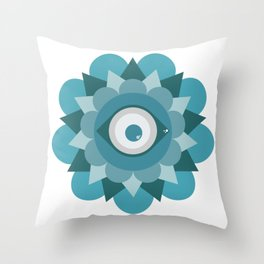 Mirada Colorida Throw Pillow
