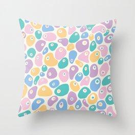 Blobby Pastel Throw Pillow