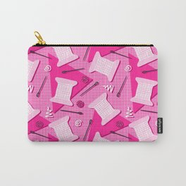 Memphis Sewing in Pink Carry-All Pouch