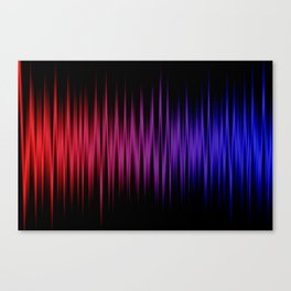 Colorful lines on black background Canvas Print