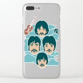 the music illustration Clear iPhone Case