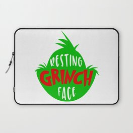 RESTING GRINCH FACE Laptop Sleeve