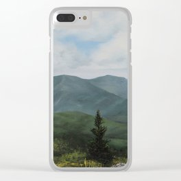 Round Bald, Roan Mountain Clear iPhone Case