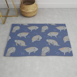 Manatees and Bubbles Rug