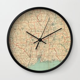 Vintage Map of Connecticut (1823) Wall Clock