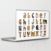 font Laptop & iPad Skins featuring Perruna Font / Dog font by oyemathias