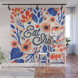 Eat Sh*t – Coral & White Palette Wall Mural