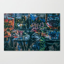 A graffiti wall in  Szeged, Hungary Canvas Print