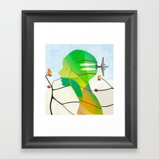 Mapas Framed Art Print