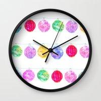 lanterns Wall Clocks featuring Lanterns by Kara Hayley