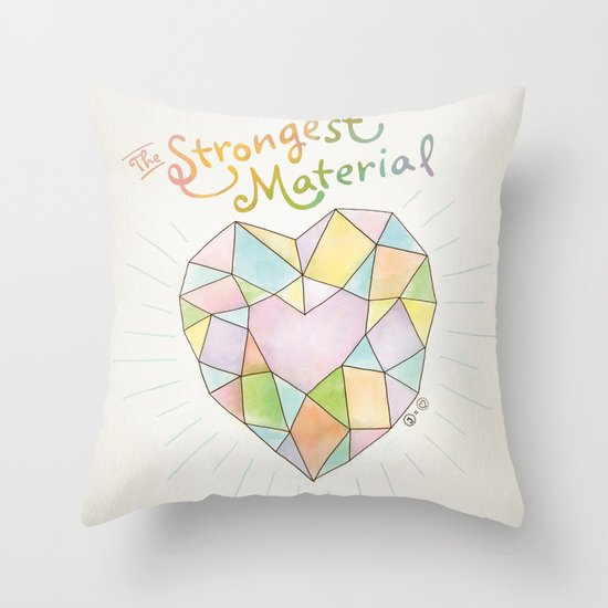 The Strongest Material Throw Pillow