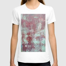 Background. Grunge and rusty metal surface T-shirt