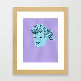Super Tongue Framed Art Print