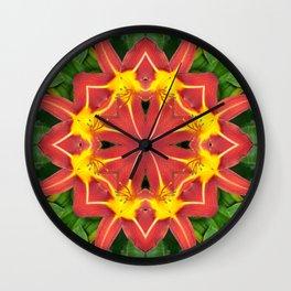 Yellow Yumm Wall Clock