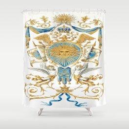 Badge of King Louis XIV Shower Curtain