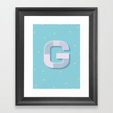 G is for Glamorous Framed Art Print