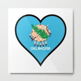 Love Oklahoma Metal Print