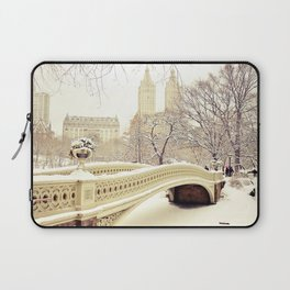 New York City Snow Wonderland Laptop Sleeve