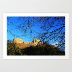 Castle Ruins on a Sunny Winters Day Art Print