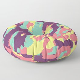 Pastel Camouflage Pattern Cute Camo Lover Floor Pillow