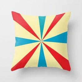 optical color Throw Pillow