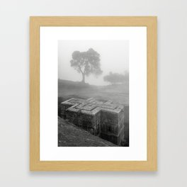 Bet Gyorgis Rock Church.  Lalibela, Ethiopia. Framed Art Print