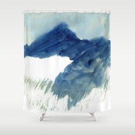 minimalist landscape Shower Curtain