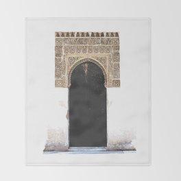 Alhambra Door Throw Blanket