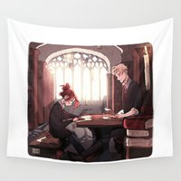 library Wall Tapestries featuring Library by Galaxyspeaking
