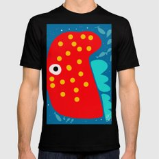 Red Fish illustration for kids MEDIUM Black Mens Fitted Tee