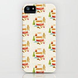 Morrison Lake Canadian Cottage Pattern iPhone Case
