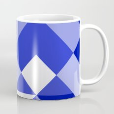 Blue and White Geometric Abstract Mug