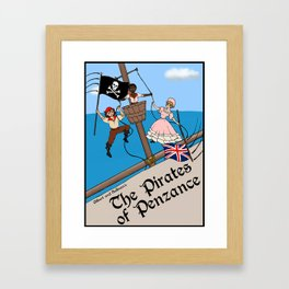Pirates of Penzance Poster Framed Art Print