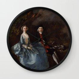 """Thomas Gainsborough """"Sarah Kirby (née Bull); (John) Joshua Kirby"""" Wall Clock"""