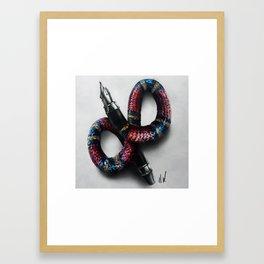 """""""Snake Pen"""" Drawing Framed Art Print"""