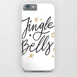 Jingle Bells Christmas holidays lettering calligraphy iPhone Case
