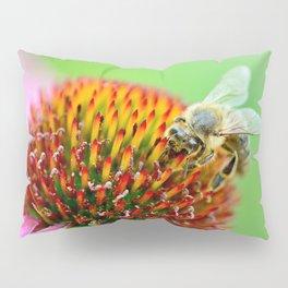 Bee on purple flower Pillow Sham