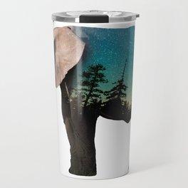 Elephant Double Exposure Travel Mug