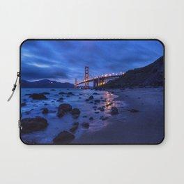 Golden Gate Bridge During Blue Hour Laptop Sleeve