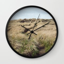 Oregon Dune Grass Adventure - Nature Photography Wall Clock